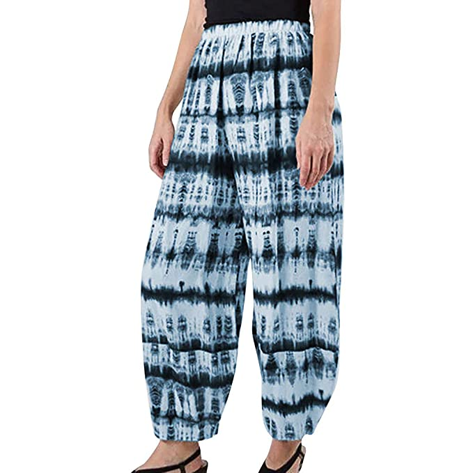 Amazon.com: Kiminana - Pantalones sueltos con estampado de ...