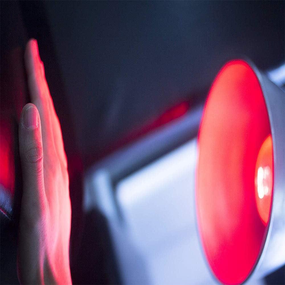Enwepoeo La Lumi/ère Infrarouge 250w Ampoule de Traitement Infrarouge la Beaut/é a pour Fonction de Soulager Les Courbatures La Fi/èvre