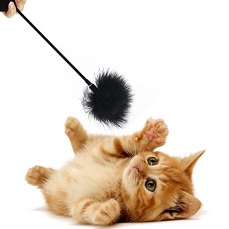 Juguete de peluche para gato de peluche con varilla para mascotas, juguete interactivo con forma de ...