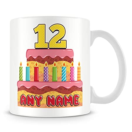 12th Birthday Gift Personalised Mug Cup
