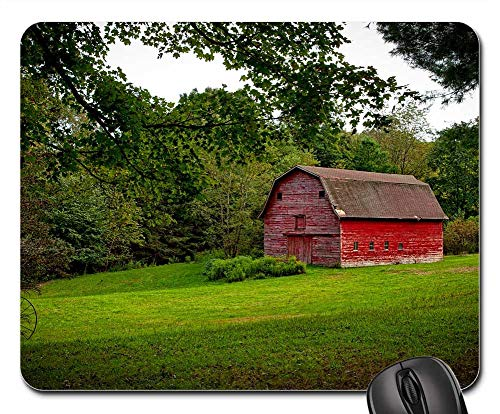 Mouse Pad - Red Barn Farm Rustic Countryside Agriculture Rural