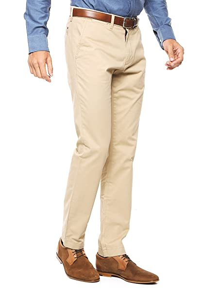 b5e08cda0c428 TOMMY HILFIGER Pantalón Beige Pantalones para Hombre Beige Talla 33x32