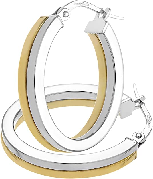 Citerna - Boucles d'oreilles - Or Bicolore 375/1000 (9 Cts) 1.9 Gr - Femme