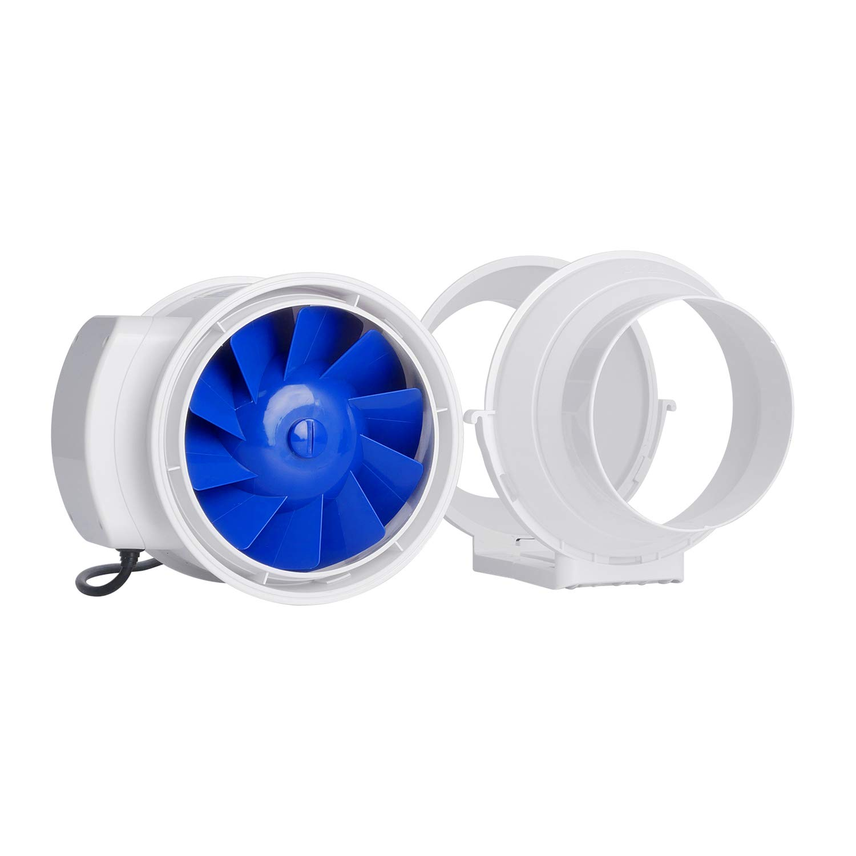Hon/&Guan 150mm Rohrventilator f/ür Badezimmer /ø150mm Hydroponik Gew/ächsh/äuser