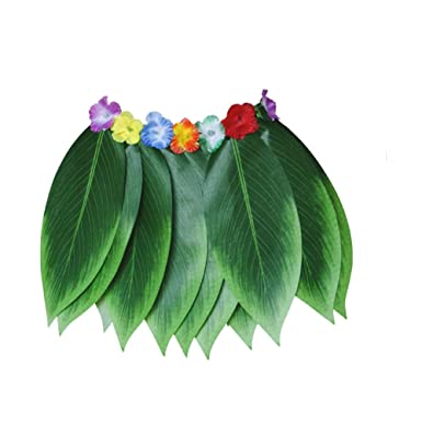 Falda Hawaiana para Fiesta de simulación de Hojas - Disfraz ...
