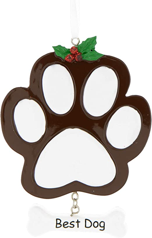 Puppy For Christmas 2020 Amazon.com: Personalized Dog Paw Christmas Tree Ornament 2020