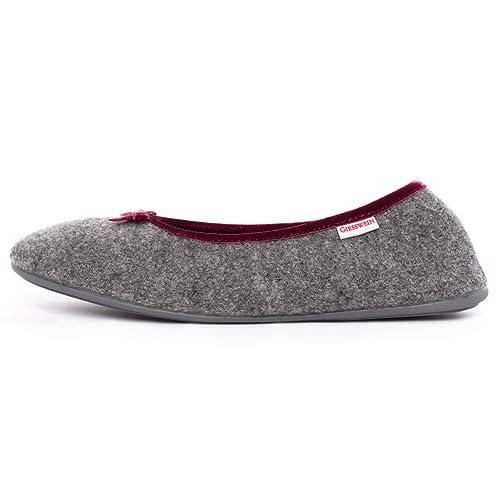 84dd900be4 Giesswein - Hohenau, Pantofole a casa da donna, Grigio (Ardesia 017),