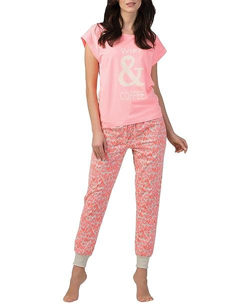 Rössli Pijama De Dos Piezas para Mujeres SAL-PY-1102.I, Rosa