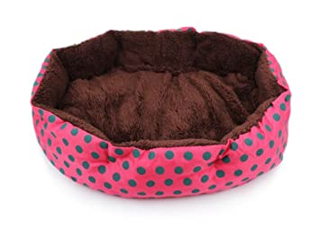 Cdet Cama para Mascotas Dot Octogonal Perrera Desmontable Cojines Nido de Mascota Trompeta,Rosa roja: Amazon.es: Hogar