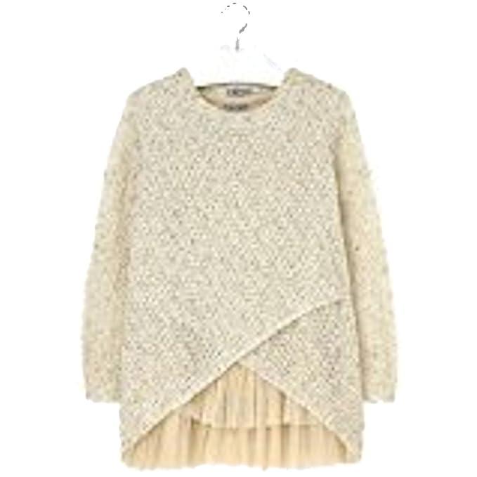 Mayoral - Vestido - suéter - Manga Larga - para niña Gold Sands 12 años
