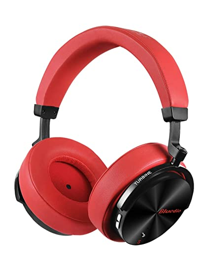 196cdd6c1f2 Bluedio T5S Bluetooth Headphones Over Ear with Mic, Active Noise Cancelling  Headphones 57mm Drivers Wireless
