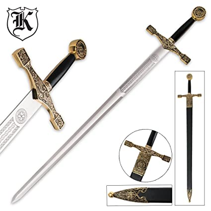 Amazon com : Master Cutlery Excalibur Deluxe Sword with Gold