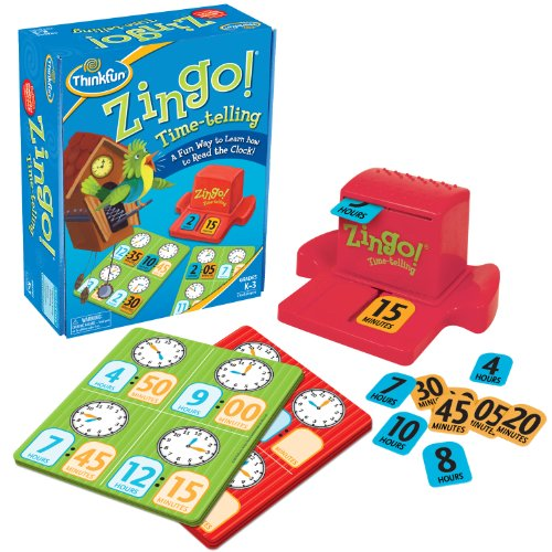 ThinkFun Zingo Time-Telling Board Game - Fun Bingo Style Game for Kids Age 4 and Up]()