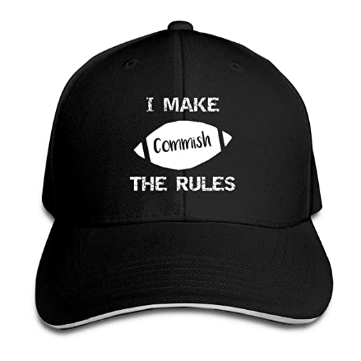 a469af1bc8cb Image Unavailable. Image not available for. Color  Commish I Make The Rules  Adjustable Baseball Caps ...