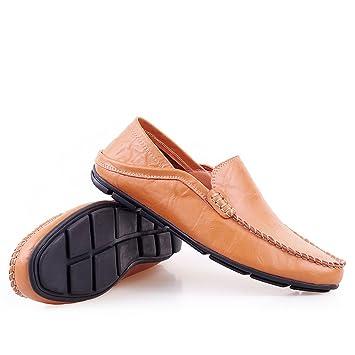 Yajie-shoes, 2018 Mocasines Zapatos para Hombre Conducción de los Hombres Penny Holgazanes Vagabundo