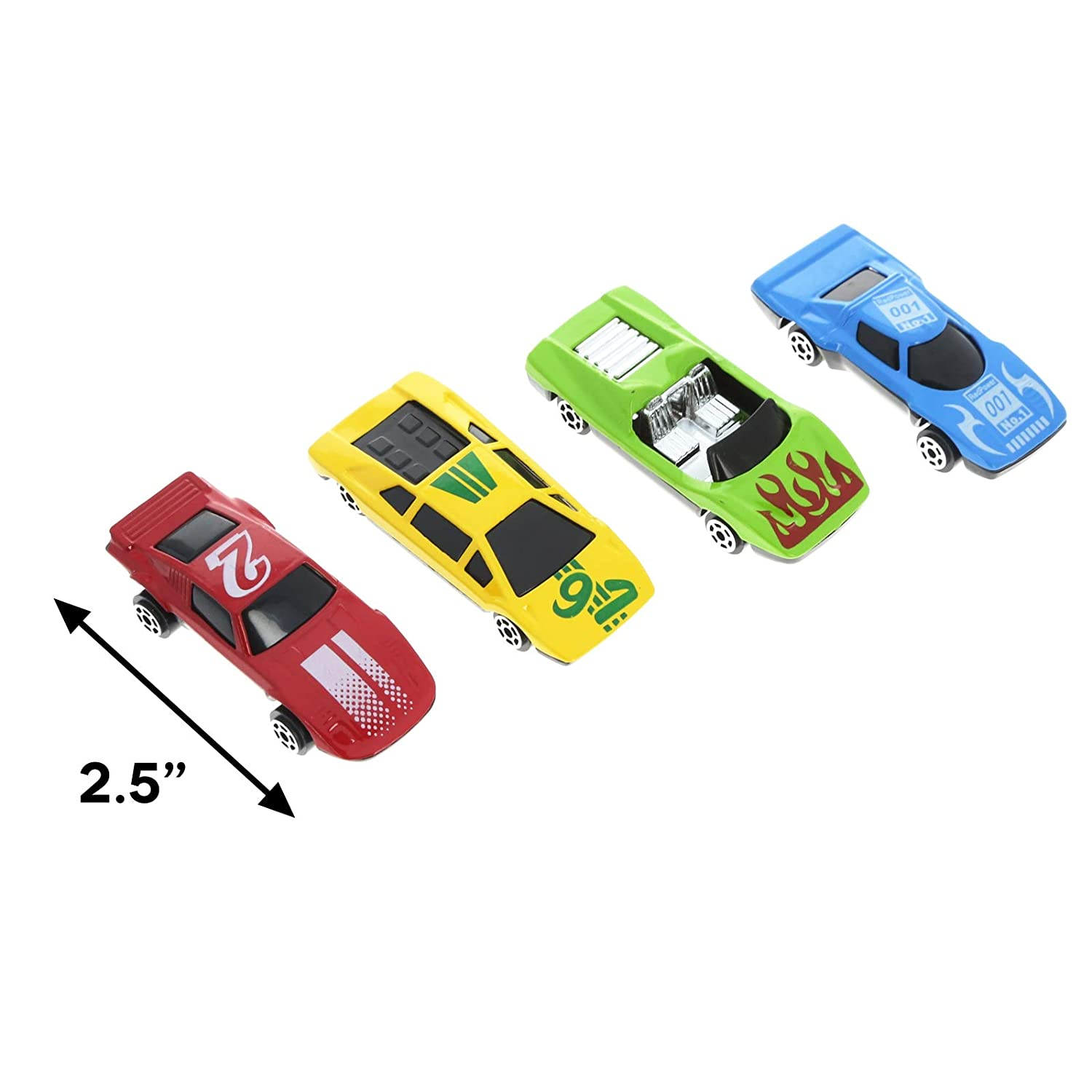 KidPlay Products Deluxe 50pc Construction Micro Wheels Kids Complete Toy Car Play Set