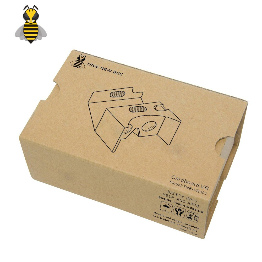 Tree New Bee 2016 VR Headset Cardboard VR V3 Virtual Reality DIY 3D Glasses for Smartphone (TNB-VR001) by Tree New Bee