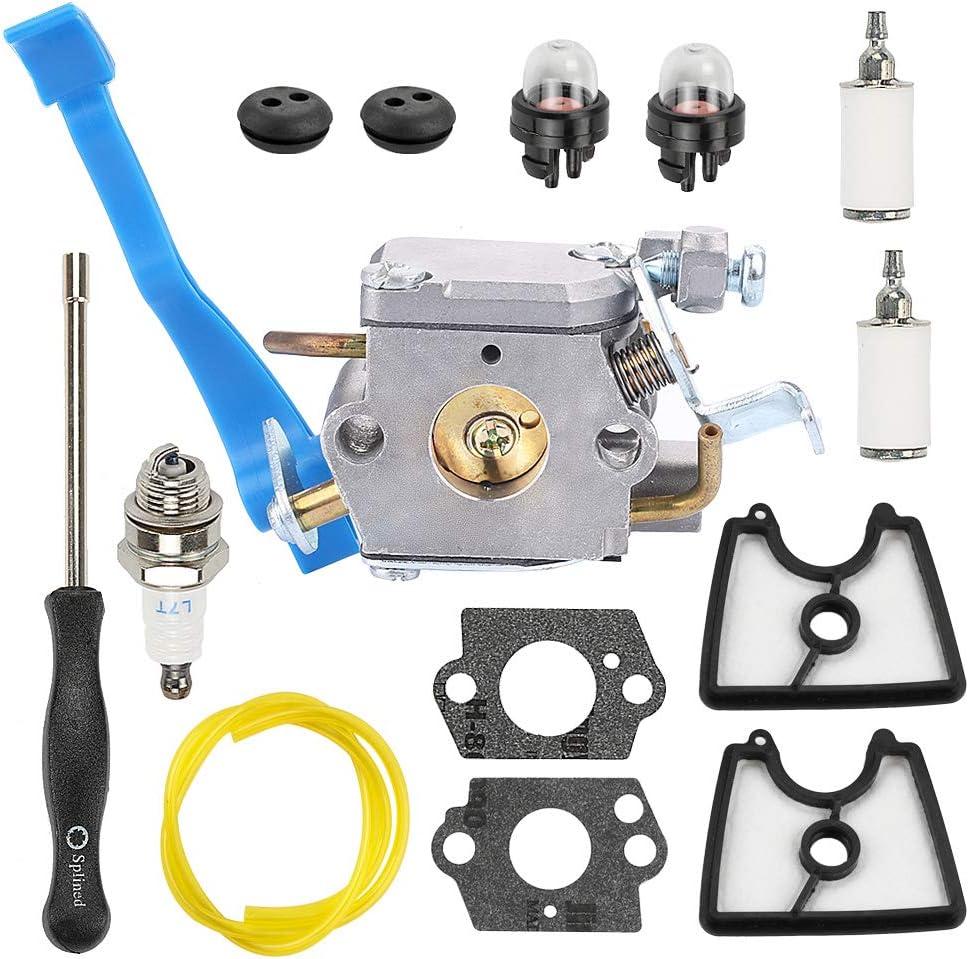 Milttor C1Q-W37 Carburetor 545112101 Air Filter Adjustment Tool Fit Husqvarna 125B 125BX 125BVX Leaf Blower 545 08 18-11 545081811