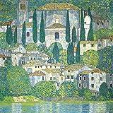 Posters: Gustav Klimt Poster Art Print - Church In Cassone At The Lake Garda, 1913 (16 x 16 inches)