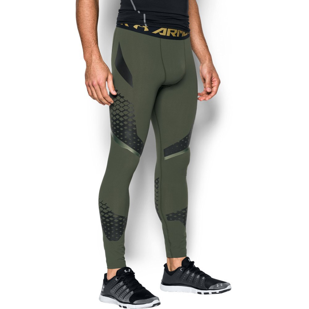 Under Armour HeatGear Armour Zone Compression XXX-Large Downtown Green
