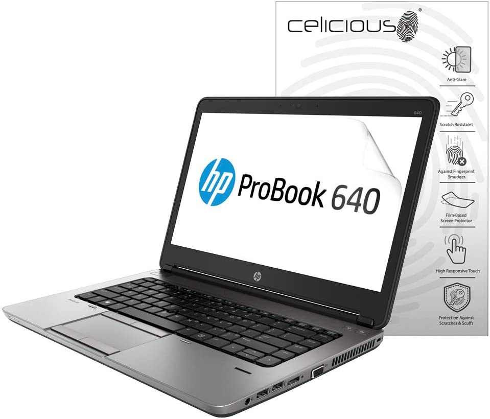 Celicious Matte Anti-Glare Screen Protector Film Compatible with HP ProBook 640 G1 [Pack of 2]