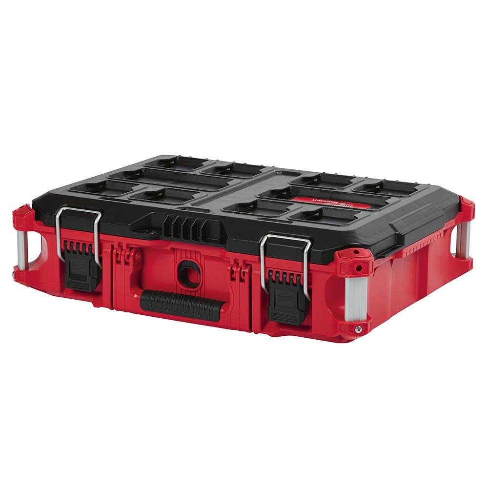 Capacity with Metal Reinforced Corners and Locking Points Milwaukee 22 in Packout Rolling Modular Tool Box Stackable Storage System 250 Lbs Designed for Harsh Jobsite Conditions Weather Sealed