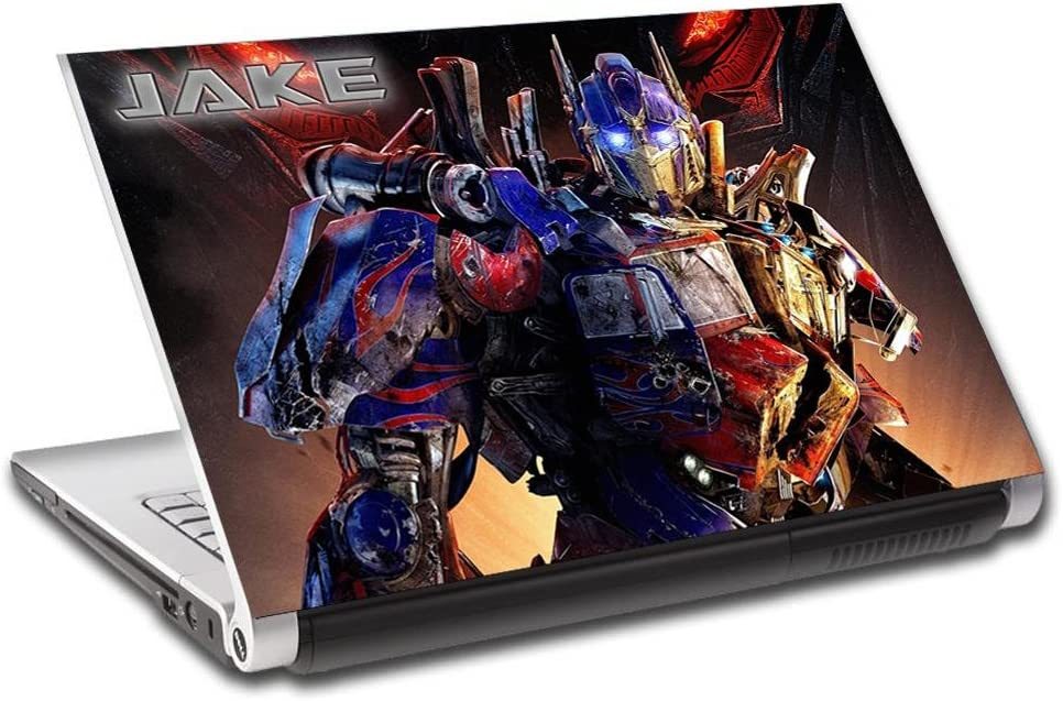 Optimus Prime Transformers Personalized LAPTOP Skin Decal Sticker ANY NAME L428, 15.4""