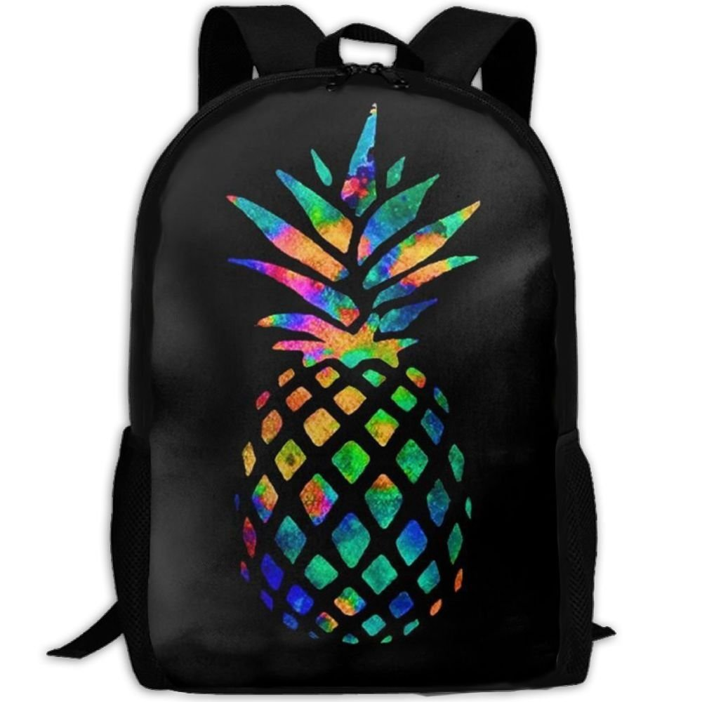 Malsjk8 Cool Pineapple Colorful Unisex Print Backpack Canvas Bag School Student Bookbags Daypack Laptop by Malsjk8 (Image #1)