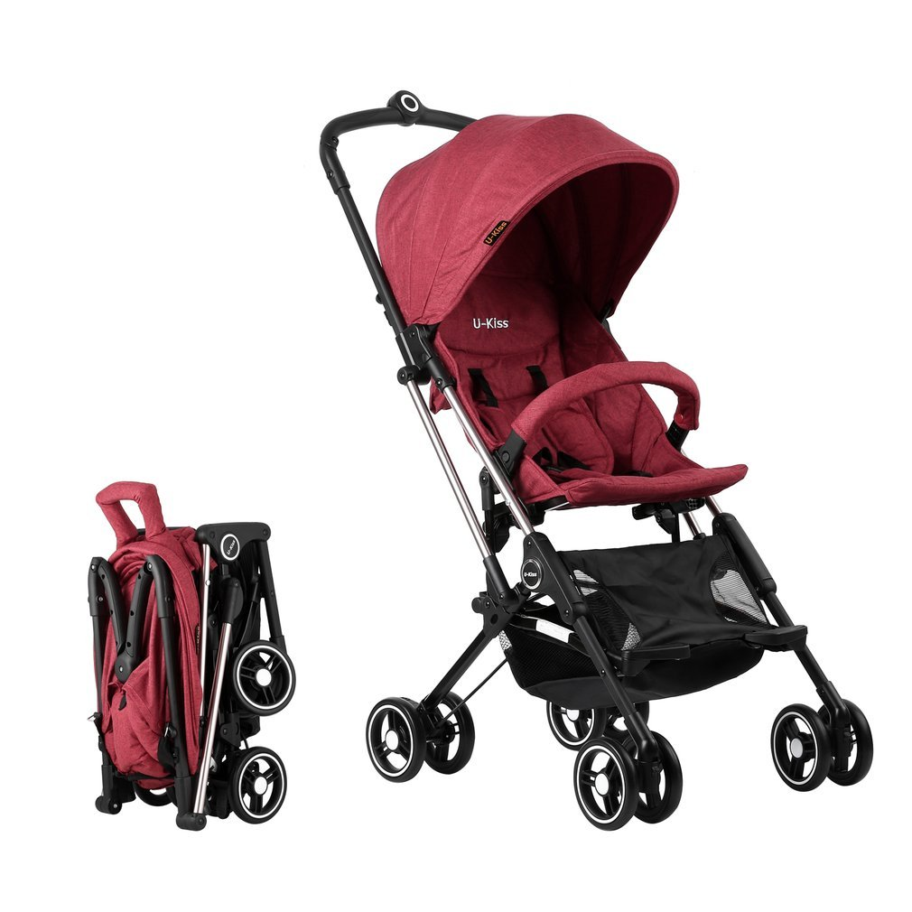 Cimiva Baby Convenience Stroller Lightweight Aluminum Frame (red) Ptime