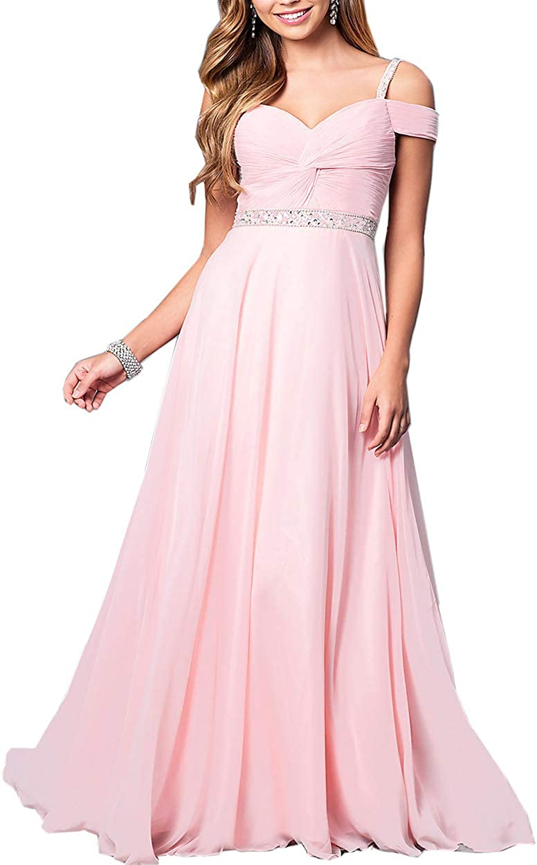 Roiii Women's Elegant Formal Bridesmaid Evening Gown Sleeveless Ruched Party Cocktail Maxi Long Dress