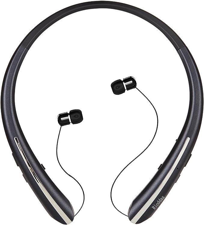 Rioddas - Auriculares inalámbricos retráctiles con banda para el ...