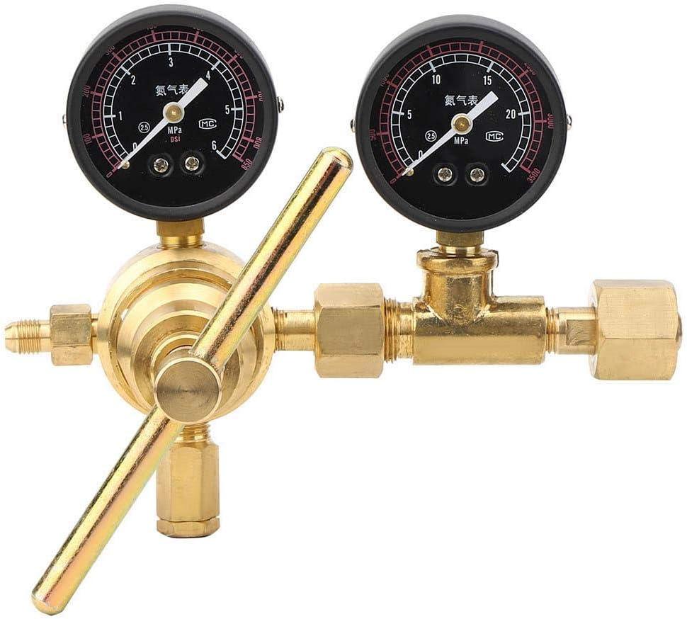 Latón 0.4MPA-4MPA Doble Sellado 16Nm³ / h Manómetro de nitrógeno a Prueba de Fugas, Reductor de presión de nitrógeno, para Cerveza de Barril de Calidad Comercial
