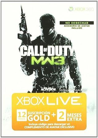 Live 12 Meses De Call Of Duty Mw3 + 2 Meses Regalo: Amazon ...
