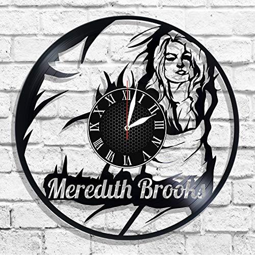 BombStudio Meredith Brooks Vinyl Record Wall Clock, Meredith Brooks Handmade for Kitchen, Office, Bedroom. Meredith Brooks Ideal Wall -