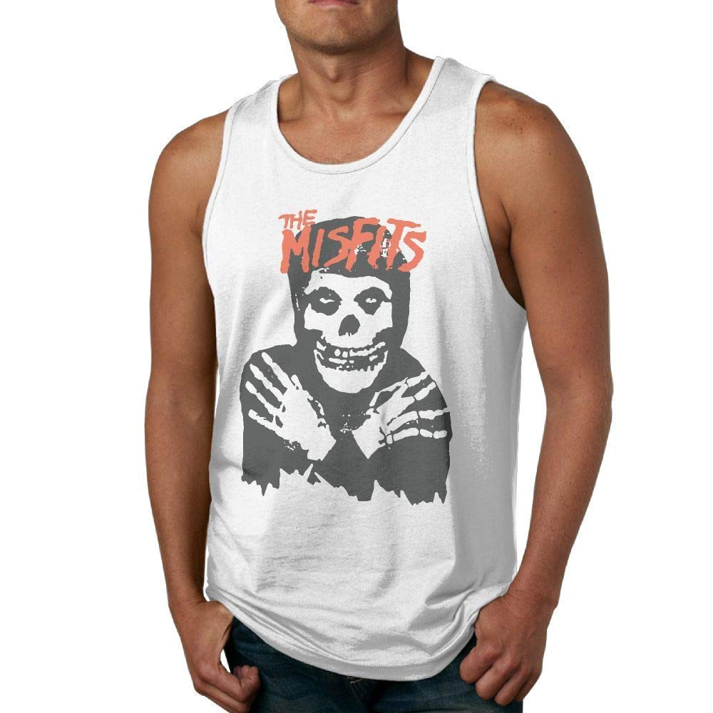 TQSff66 Misfits Classic Skull Mens Basal Muscle Sleeveless Tee Tank Top Vest
