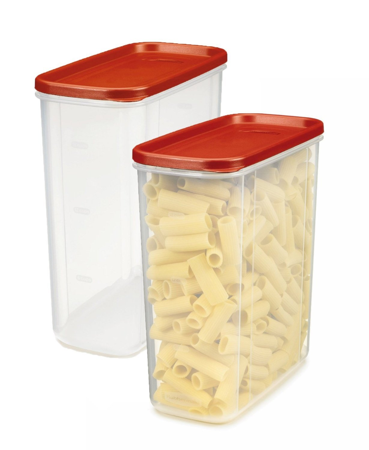 Rubbermaid LEPUSEMTE469 711717429496 Dry Food Container (Set of 2), 21-Cup, 2 Pack Everyday, Clear