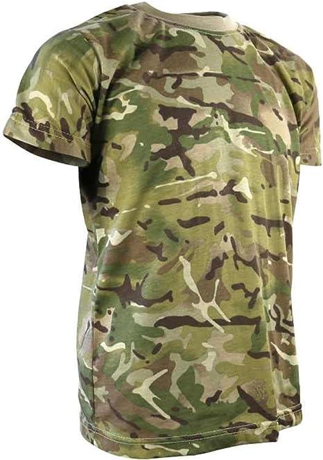 Kombat Kids Boys BTP Tactical T-shirt Army Combat Military Camo Soldier Cadet