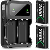Xbox One Controller Battery Pack, BEBONCOOL Xbox One Battery Pack Rechargeable with Charger, 2x2550 mAh Xbox One Battery Pack for Xbox One/Xbox One S/Xbox One X/Xbox One Elite Controller