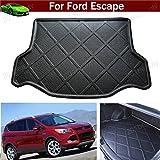 KT- Car Mat Car Boot Pad Carpet Cargo Mat Trunk Cargo Liner Cargo Tray Floor Mat Custom Fit for Ford Escape 2013 2014 2015 2016 2017 2018