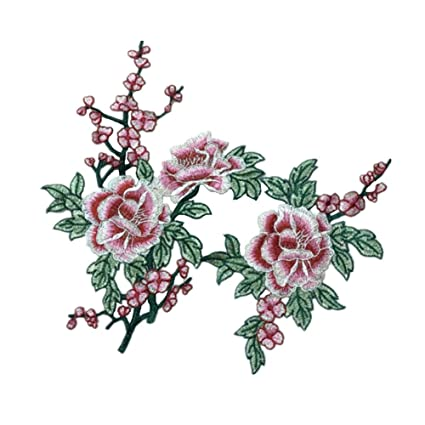 Wicemoon 1par Flores Apliques Bordados Parches Para Ropa denim Chaqueta Diy Parche