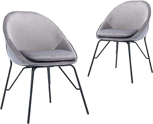 ZHENGHAO Velvet Egg Accent Dining Chair