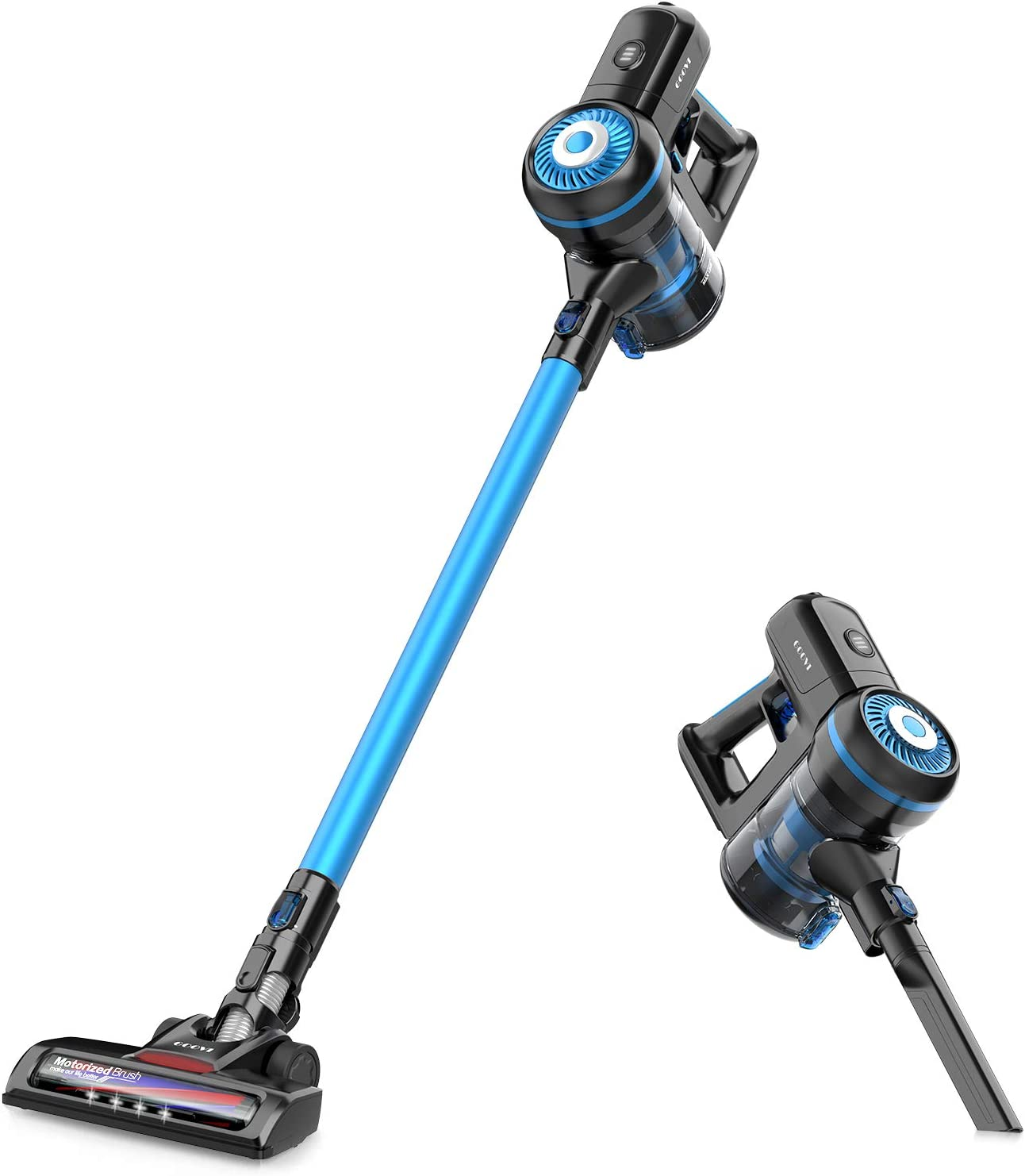 GOOVI Cordless Vacuum Cleaner 10KPa Powerful Suction 40min-Running 2 in 1 Handheld Vacuum Cleaner Lightweight & Filtration for Home Hardwood Floor Carpet Car Pet Cleaning