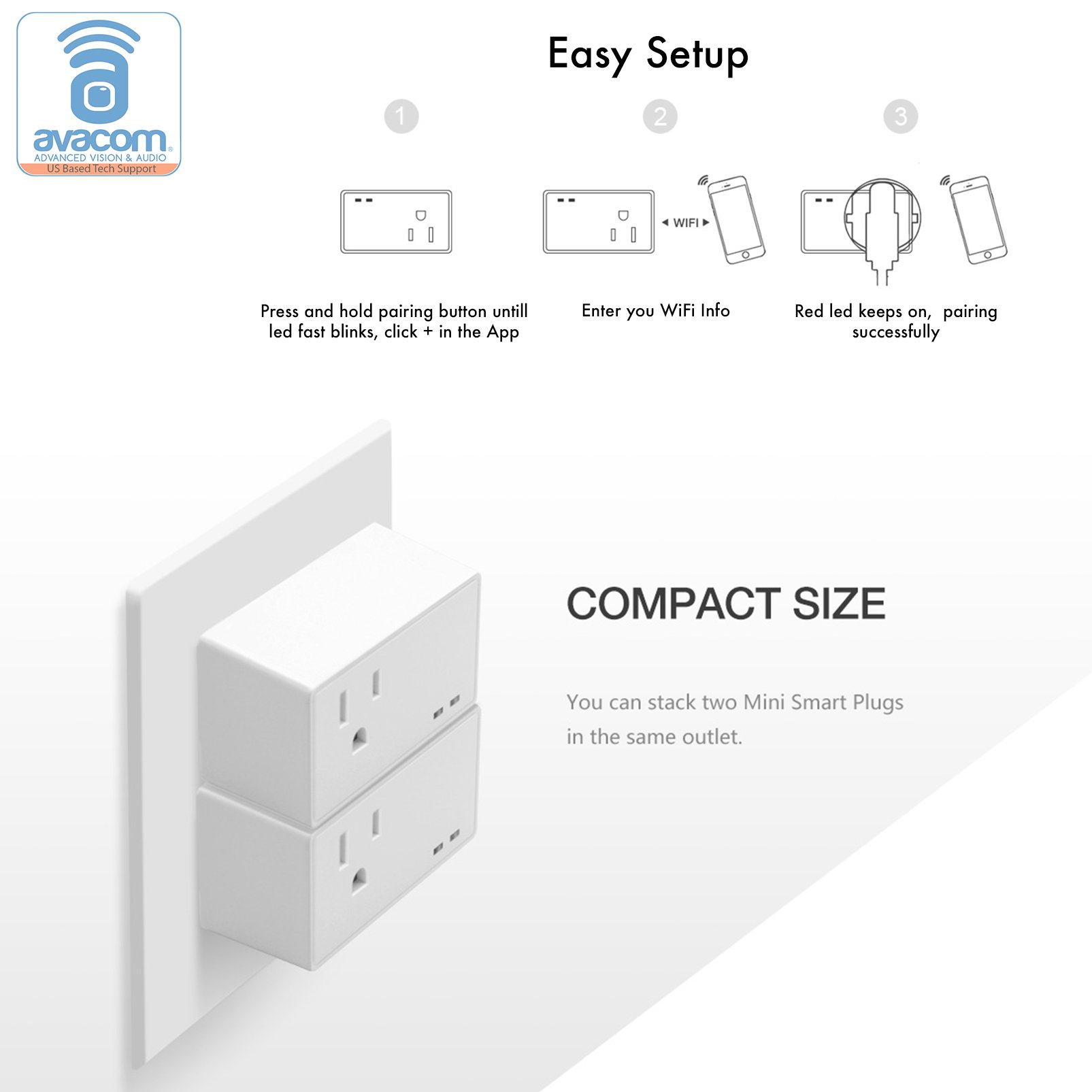 AVACOM WiFi Smart Plug, Compatible with Amazon Alexa Echo/Dot | Google Home | Works with Nest and IFTTT, Remote Voice and App Control from Anywhere, Wifi Remote Outlet, No Hub Required by Avacom (Image #6)