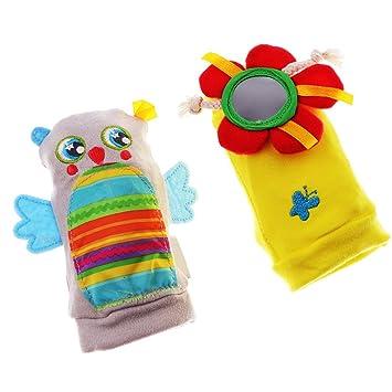 Sharplace Calcetines Juguetes Sensoriales para Bebés Pelotas Rompecabezas Peluches Muñecos Ropa Niños - Multicolor2