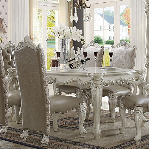Amazon.com   Acme Furniture Versailles Rectangular Dining Table   Bone    Tables
