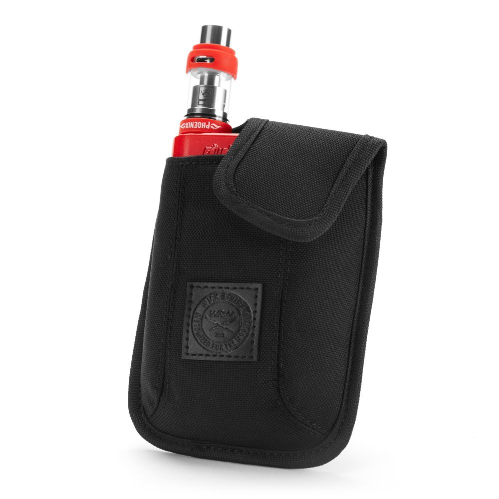 Vape Carrying Case for Travels – Secure, Organized, Premium Vapor Bag – Fits Large Mechanical Box Mods, e-Juice, Battery, Tank Holder & Accessories – Wick and Wire (El Cajon Black)