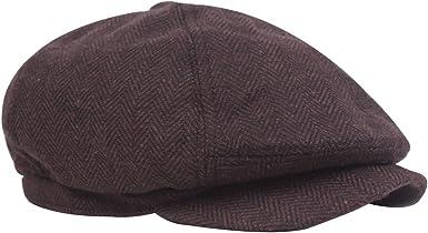 Leisial Sombrero de Boina de Otoño e Invierno Estilo Británico ...