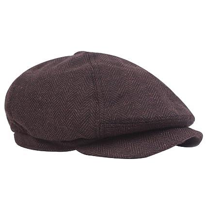 Gespout Sombreros Gorras Boinas Vaquero Hombres Mujer Hat Flat Cap Invierno  Otoño Caliente Viaje Senderismo Navidad caec9dfaa1b