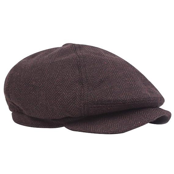 Leisial Sombrero de Boina de Otoño e Invierno Estilo Británico Gorra de  Hombre Sombrero Casual de Boina Caliente para Hombres Mujeres  Amazon.es   Ropa y ... 8ba7abbd89e