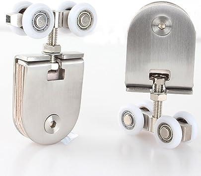 Rueda de Puerta Corredera armario ruedas de nailon para colgar piezas de rueda puerta rodillos puerta Hardware: Amazon.es: Bricolaje y herramientas